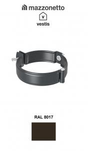Bratara burlan semicircular Ø100, Aluminiu Mazzonetto Vestis, RAL 80170