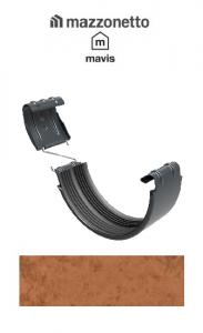 Bratara jgheab semicircular Ø150, Otel Mazzonetto Mavis, RAL Copper2