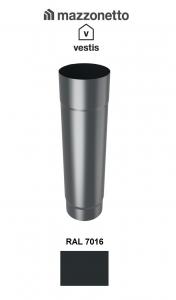 Burlan rotund Ø100 ( 2-3-m), Aluminiu Mazzonetto Vestis, RAL 7016 [0]