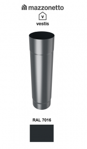Burlan rotund Ø100 ( 2-3-m), Aluminiu Mazzonetto Vestis, RAL 7016 [1]