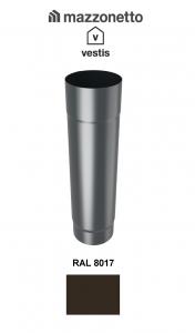 Burlan Ø100, aluminiu Mazzonetto Vestis, RAL 8017 - 3m1