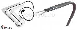 Chit cablu degivrare jgheaburi si burlane cu stecher si termostat 30w, 600 Watt, 20 m [1]