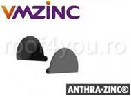 Capac jgheab semicircular Ø125 titan zinc Anthra Vmzinc0