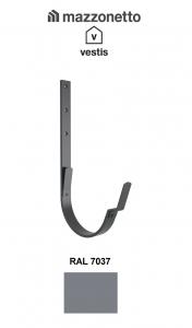 Carlig lung pentru jgheab semicircular Ø150, Aluminiu Mazzonetto Vestis, RAL 70371