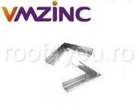 Coltar exterior rectangular 400mm titan zinc Quartz Vmzinc1