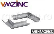 Coltar interior semicircular Ø125 titan zinc Anthra Vmzinc1