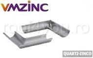 Coltar interior semicircular Ø125 titan zinc Quartz Vmzinc0