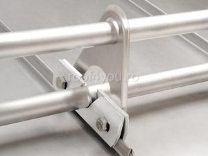 Consola parazapada dubla din aluminiu pentru 2 bare0