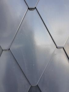 ECO-R line - solzi metalici din titan zinc Anthra model romboidali, 40buc/mp3