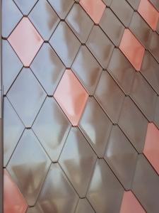 ECO-R line - solzi metalici din titan zinc Anthra model romboidali, 40buc/mp5