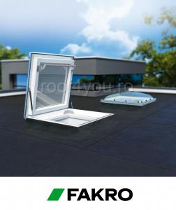 Fereastra de acces pe acoperis terasa Fakro DRC-C P2 90/90 geam cu cupola1