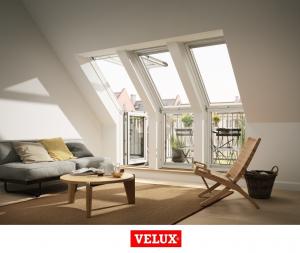 Fereastra de mansarda pentru acces pe terasa Velux GEL-VEA 30655