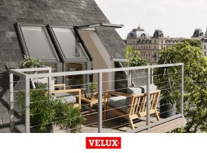 Fereastra de mansarda pentru acces pe terasa Velux GEL-VEA 30652