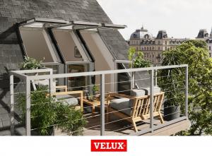 Fereastra de mansarda pentru acces pe terasa Velux GEL-VEA 30653