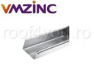 Jgheab rectangular 400mm titan zinc natural Vmzinc 3ml1