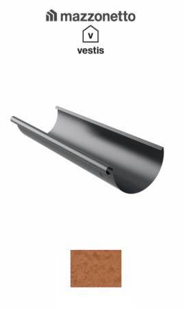 Jgheab semicircular Ø150, L=3m, Aluminiu Mazzonetto Vestis RAL Copper [0]
