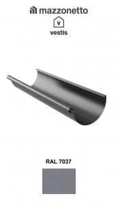 Jgheab 333, aluminiu Mazzonetto Vestis, RAL 7037 - 3m1
