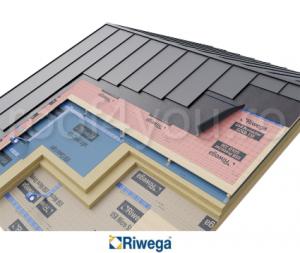 Membrana de difuzie pentru montaj tabla faltuita Riwega USB Drenlam Bluetech 450, 20x1.25=25mp1