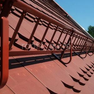 Pachet parazapada grilaj pentru tigla ceramica sau beton ROOFS / RAL 80041