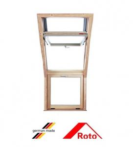 Roto R15, 72.6/58, toc din lemn, deschidere mediana, geam dublu [1]