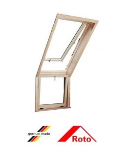 Roto R15, 72.6/58, toc din lemn, deschidere mediana, geam dublu [0]