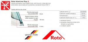 Roto R48, 54/98, toc din lemn, izolatie WD, deschidere mediana, geam dublu [6]