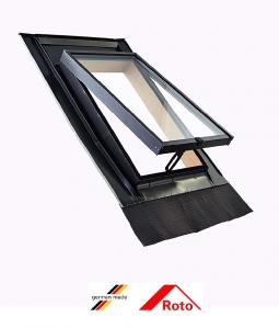 Roto R27, 45/55, toc din lemn, deschidere mediana, geam dublu [0]