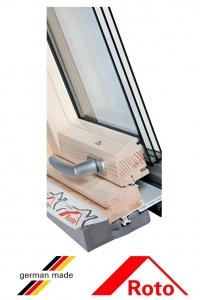 Fereastra mansarda Roto R69P, 94/118, toc din lemn, izolatie WD, deschidere mediana, geam triplu3