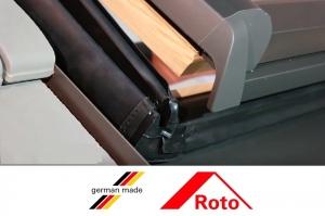 Fereastra mansarda Roto R88, 114/118, toc din lemn, izolatie WD, dubla deschidere, geam dublu6