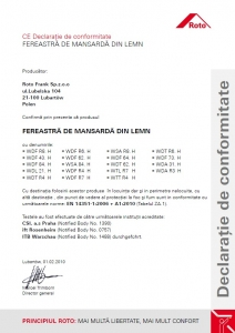 Fereastra mansarda Roto R88, 65/118, toc din pvc, izolatie WD, dubla deschidere, geam dublu12