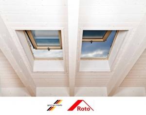 Fereastra mansarda Roto R88, 74/140, toc din lemn, izolatie WD, dubla deschidere, geam dublu4
