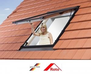 Fereastra mansarda Roto R88, 94/140, toc din pvc, izolatie WD, dubla deschidere, geam dublu2