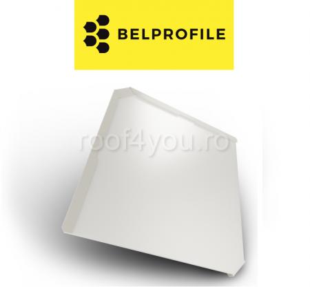 """Solzi BELPROFILE QUADRA, suprafata """"Aluminiu SunClear"""" (lucios), grosime 0.7 mm, RAL 90101"""