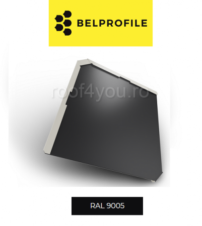 "Solzi BELPROFILE QUADRA, suprafata ""BigStone"", grosime 0.5 mm, RAL 90051"