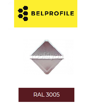 "Solzi QUADRA BELPROFILE element superior/inferior, suprafata ""BigStone"", grosime 0.5 mm, RAL 30051"
