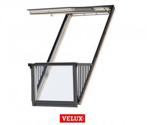 Velux GDL 3066, 114/252, toc din poliuretan, deschidere mediana, geam triplu [0]
