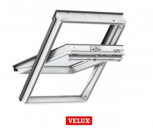 Fereastra mansarda Velux Premium GGU 006630, 55/78, toc din poliuretan, actionare solara, deschidere mediana, geam triplu0