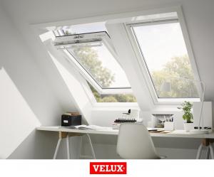 Fereastra mansarda Velux Premium GGU 006630, 55/78, toc din poliuretan, actionare solara, deschidere mediana, geam triplu3