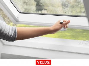 Fereastra mansarda Velux Premium GPU 0066, 55/98, toc din poliuretan, actionare electrica, deschidere mediana, geam triplu1