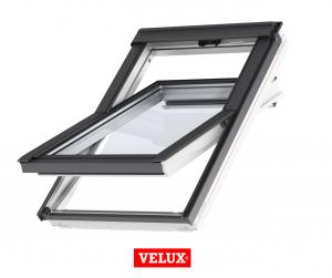Fereastra mansarda Velux Standard GLU 0051, 55/78, toc din poliuretan, deschidere mediana, geam dublu + rama etansare EDW 20001