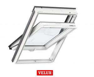 Fereastra mansarda Velux Standard GLU 0061B, 66/118, toc din poliuretan, deschidere mediana, geam triplu0
