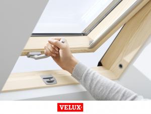 Velux Standard GZL 1051B, 66/118, toc din lemn, deschidere mediana, geam dublu + rama etansare EDW 2000 [2]