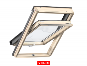 Velux Standard GZL 1051B, 66/118, toc din lemn, deschidere mediana, geam dublu + rama etansare EDW 2000 [0]