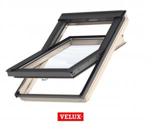 Fereastra mansarda Velux Standard Plus GLL 1061B, 66/118, toc din lemn, deschidere mediana, geam triplu0