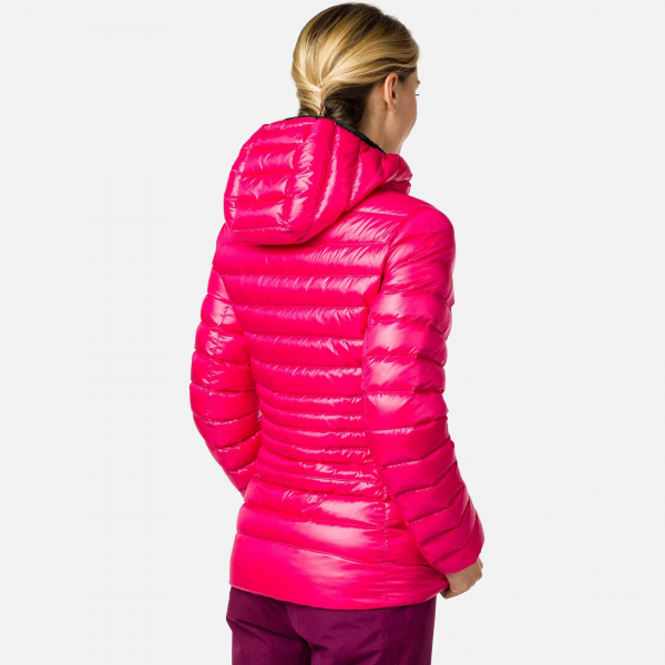 Jacheta dama W LIGHT DOWN HOOD Pink fushia 1