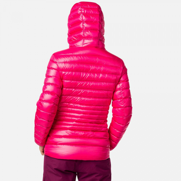 Jacheta dama W LIGHT DOWN HOOD Pink fushia 2