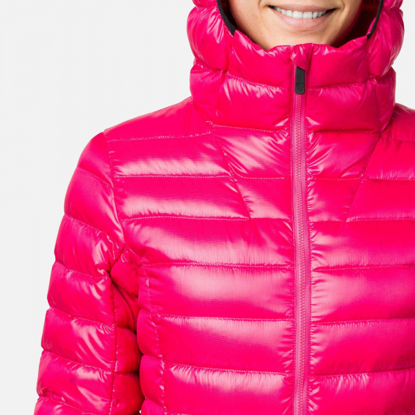 Jacheta dama W LIGHT DOWN HOOD Pink fushia 4