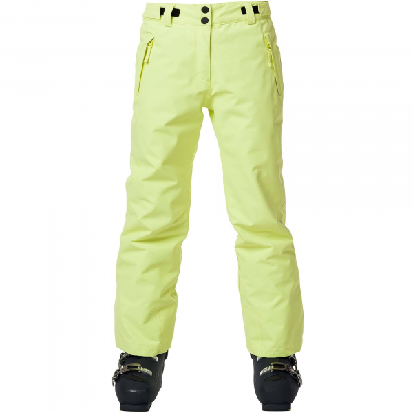 Pantaloni schi copii GIRL SKI Sunny lime 5