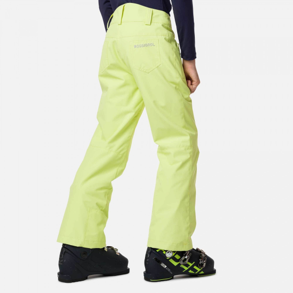 Pantaloni schi copii GIRL SKI Sunny lime 1