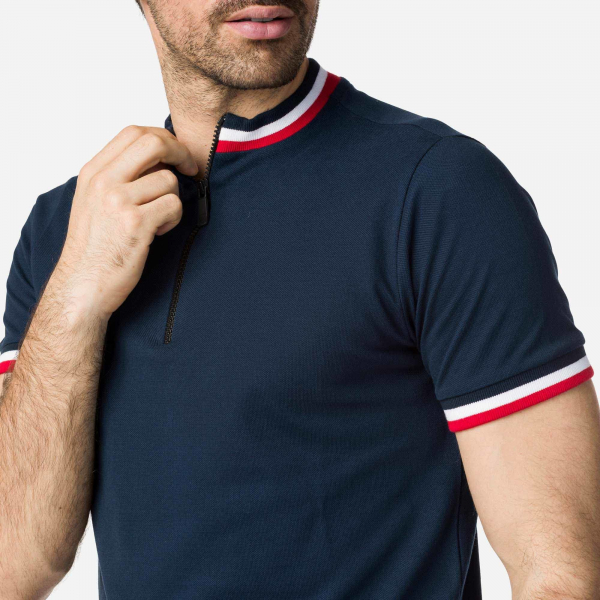 Tricou barbati POLO 1/2 ZIP Dark Navy 2